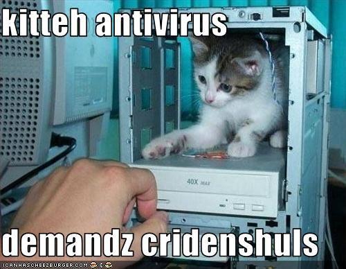 kitteh antivirus  demandz cridenshuls