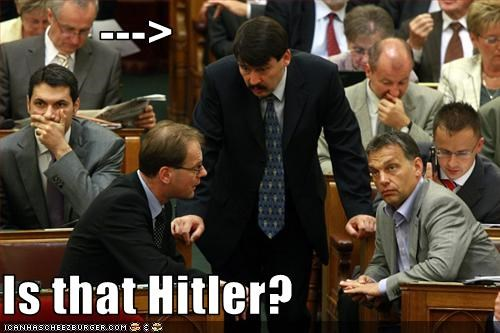 --->  Is that Hitler?