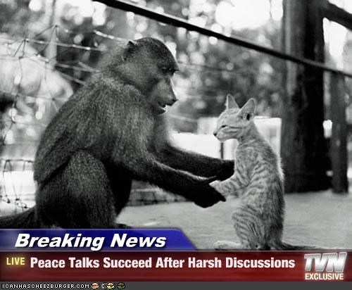 Breaking News - Peace Talks Succeed After Harsh Discussions