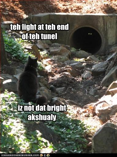 teh light at teh end of teh tunel