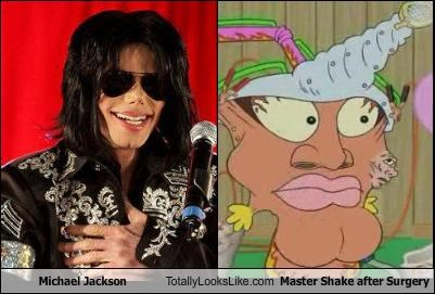 Michael Jackson Totally Looks Like Master Shake after Surgery