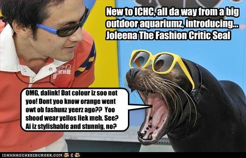 New to ICHC, all da way from a big outdoor aquariumz, introducing... Joleena The Fashion Critic Seal