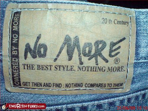 I ownered my denim pants