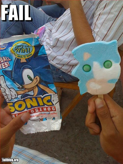 Sonic popsicle resemblance FAIL