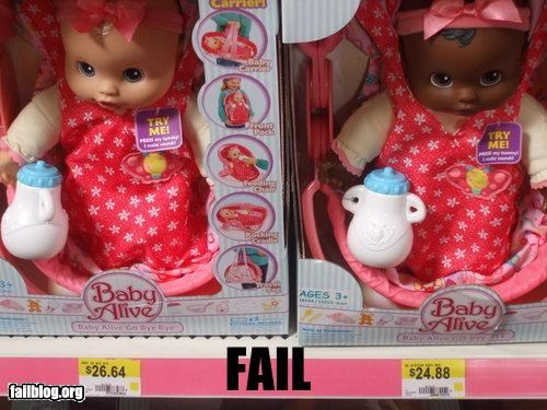 black,dolls,g rated,price,racism,toys,white