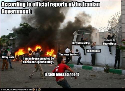 americans,drugs,homosexual,iran,Israel,jews,mossad,protesters,religion,the jonas brothers,theocracy