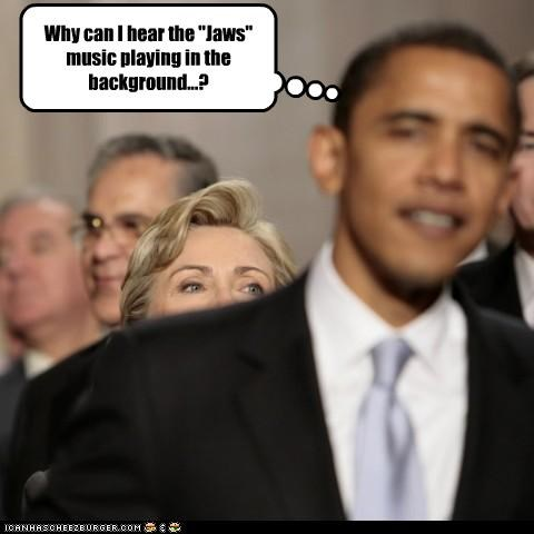 barack obama,democrats,First Lady,Hillary Clinton,jaws,Music,president,secretary of state