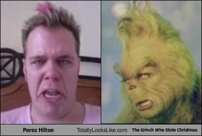 Perez Hilton Totally Looks Like The Grinch Who Stole Christmas