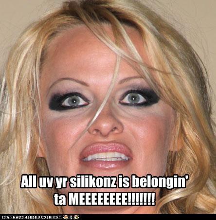 All uv yr silikonz is belongin'  ta MEEEEEEEE!!!!!!!