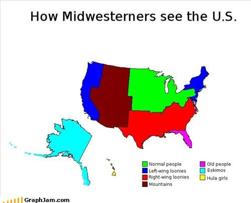 How Midwesterners see the U.S.