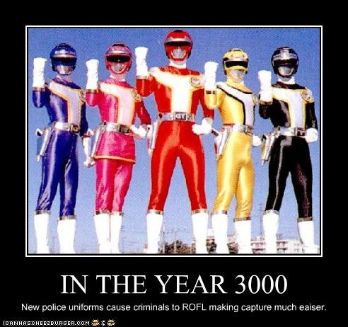 Mighty Morphin Power Rangers,police,rofl,uniforms