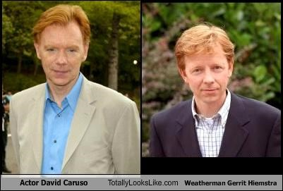 Actor David Caruso Totally Looks Like Weatherman Gerrit Hiemstra