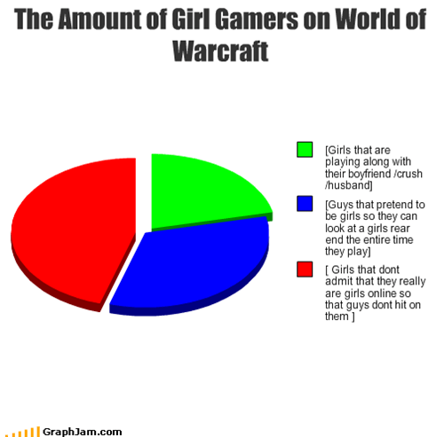 The Amount of Girl Gamers on World of Warcraft