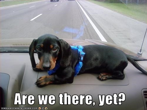 Are we there, yet?