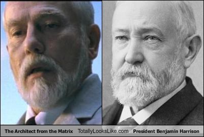 The Architect from the Matrix Totally Looks Like President Benjamin Harrison