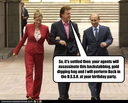 heather mills,Music,paul mccartney,president,prime minister,russia,Vladimir Putin