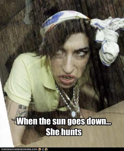 When the sun goes down... She hunts