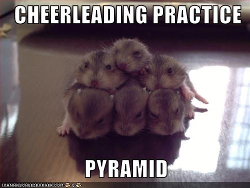 CHEERLEADING PRACTICE                     PYRAMID