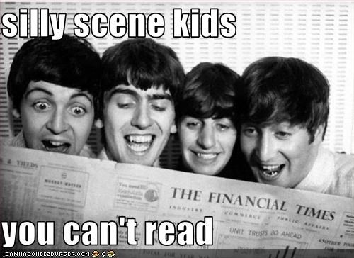 silly scene kids  you can't read