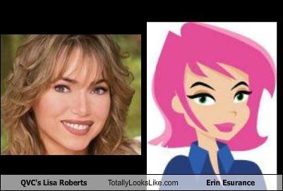 QVC's Lisa Roberts Totally Looks Like Erin Esurance - Cheezburger