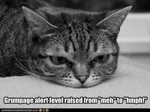 "Grumpage alert level raised from ""meh"" to ""hmph!"""