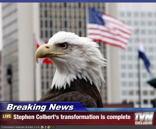 Breaking News - Stephen Colbert's transformation is complete