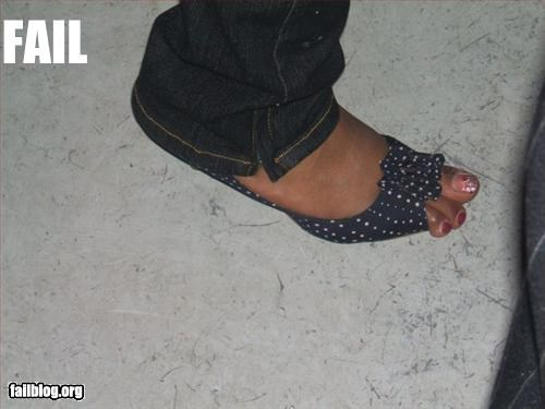 Peep Toe Shoes Fail