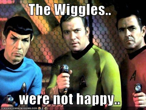 The Wiggles..  were not happy..