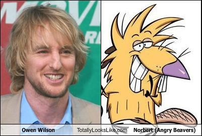 Owen Wilson Totally Looks Like Norbert (Angry Beavers)
