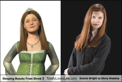 Sleeping Beauty From Shrek 3 Totally Looks Like Bonnie Wright as Ginny Weasley