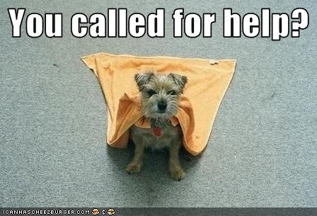 You called for help?