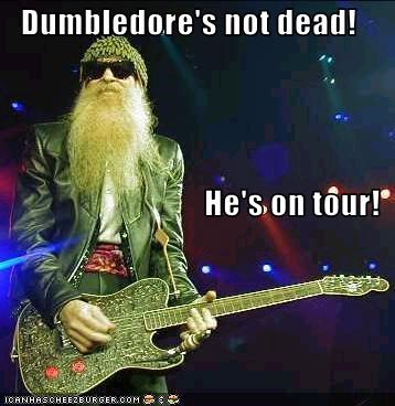 Dumbledore's not dead! He's on tour!