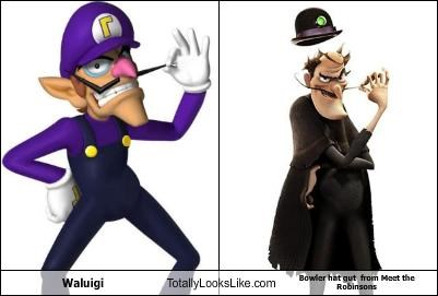 animation,bowler hat,cartoons,Meet the Robinsons,super mario brothers,video games,waluigi
