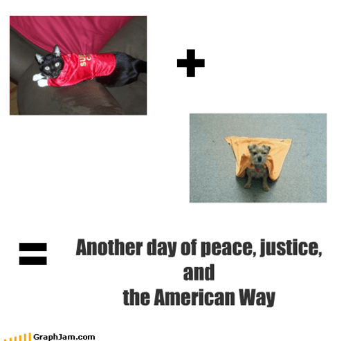 Another day of peace, justice, and the American Way
