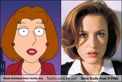 dana scully,diane simmons,family guy,gillian anderson,the x-files