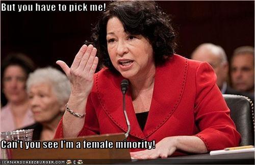 But you have to pick me!  Can't you see I'm a female minority!