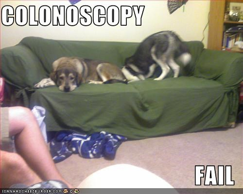 COLONOSCOPY  FAIL