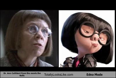 Dr. Ann Cuthbert from the movie the Relic Totally Looks Like Edna Mode