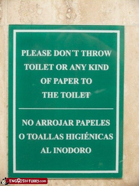 g rated,paper,signs,throw,toilet,toilet paper,warning