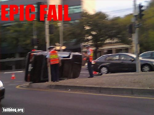 car crash epic fail