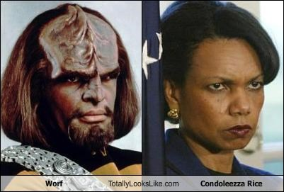 Worf Totally Looks Like Condoleezza Rice