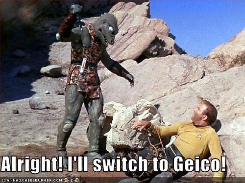 commercials,GEICO,sci fi,Star Trek,William Shatner