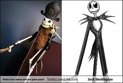Pirate from James and the giant peach Totally Looks Like Jack Skellington