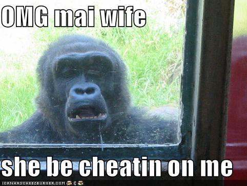 OMG mai wife  she be cheatin on me