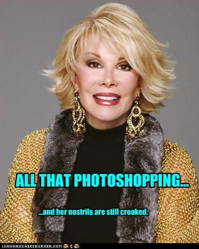 comedian,joan rivers,photoshopped,plastic surgery