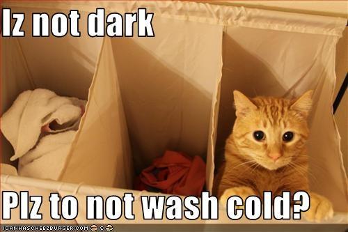 Iz not dark  Plz to not wash cold?