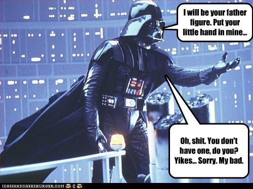 I will be your father figure. Put your little hand in mine...