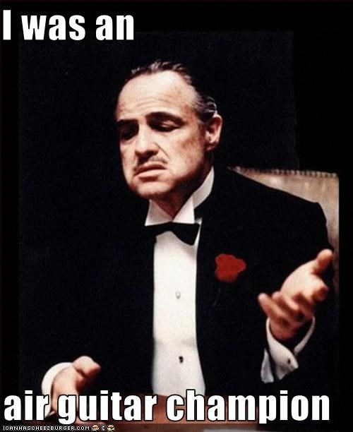 air guitar,Marlon Brando,movies,the godfather