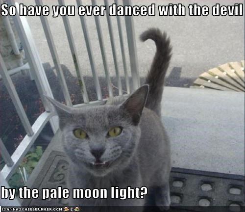 So have you ever danced with the devil  by the pale moon light?
