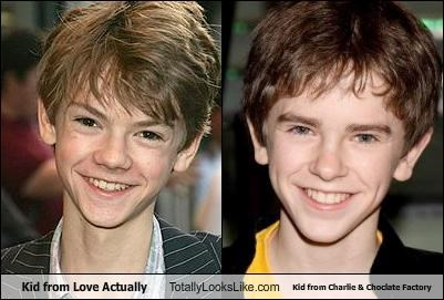 Kid from Love Actually Totally Looks Like Kid from Charlie & Choclate Factory